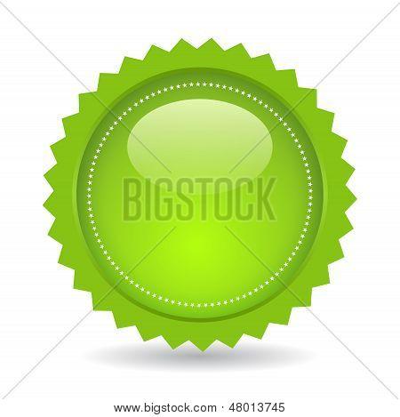 Green vector price star