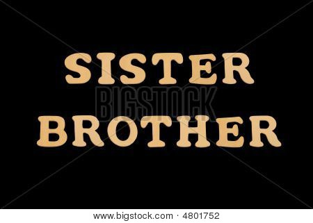 Wooden Word Sister brother