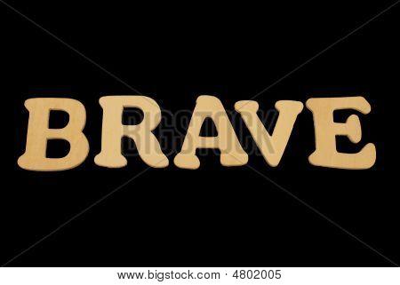 Wooden Word Brave