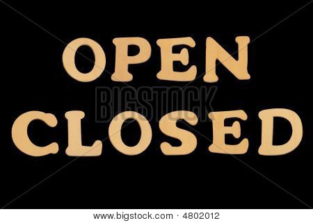 Wooden Word Openclosed