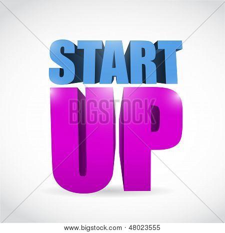 Start Up Text Illustration Design