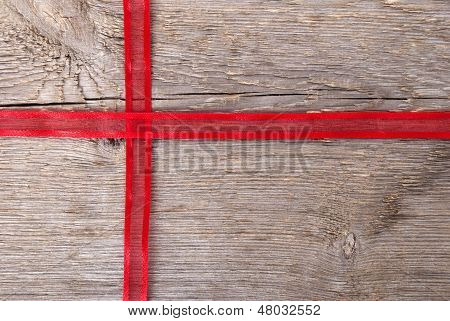 Red Ribbon As Gift