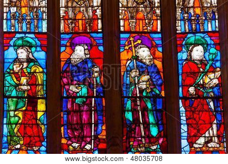 Disciples Stained Glass Cathedral Of Saint Mary Of The See Seville Spain