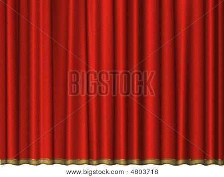 Curtain Of Red Velvet