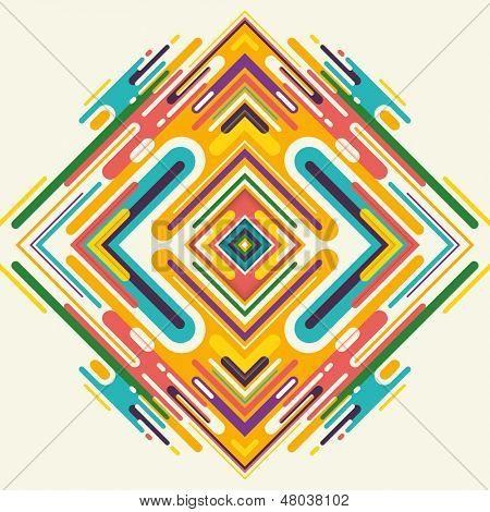 Modish arabesque in color. Vector illustration.