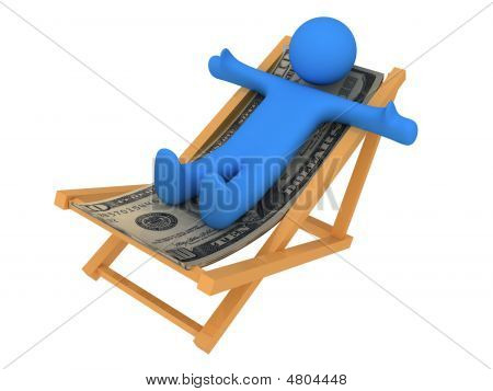 Person On Chaise Longue