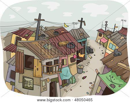 Illustration of a Slum Neighborhood