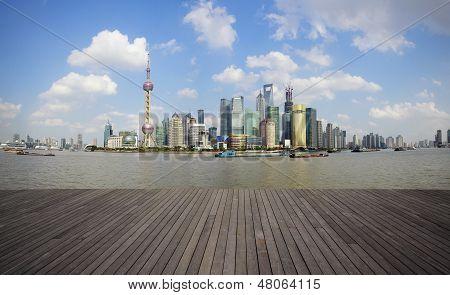 Shanghai Bund Landmark Skyline Urban Buildings Landscape