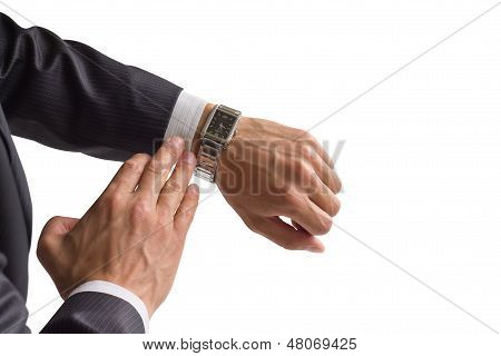Businessman Look At His Watch