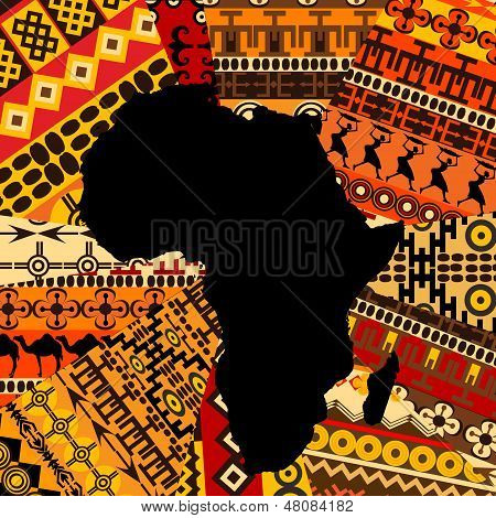 Africa Map On Ethnic Background