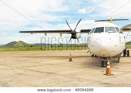 Prop Plane on Tarmac