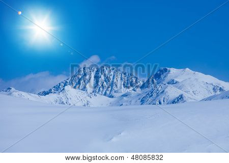 Snow Land And Rocky Mountains