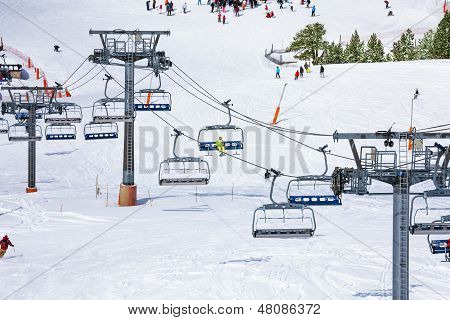 Ski Lift Background