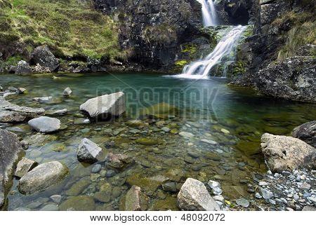 Waterfall in the Cuillin Mountains, Isle of Skye , Scotland