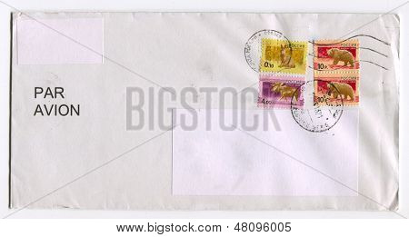 RUSSIA - CIRCA 2013: A stamp printed in Russia shows image of the Bear, Rat and Oak, circa 2013.