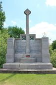 Memorial to the service of the British 14th (Light) Division in the First World War in Belgium and France. The memorial stands just to the south of the famous Hill 60 near Ypres, Belgium. poster