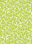 scrolls and swirls floral pattern background of fresh green colors with fabric texture poster