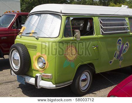 1968 Vw Hippie Camper Special Van Close Up