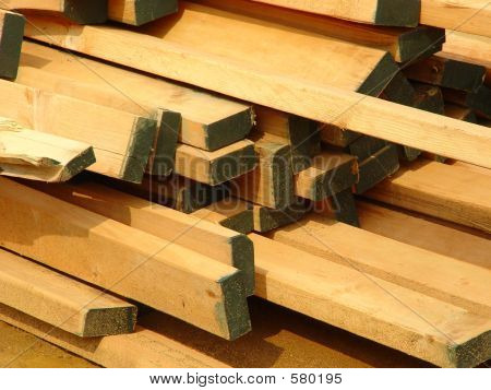 Stack of 2x4 House Construction Studs
