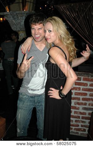 Drew Seeley and Jennifer Leeser  at the Birthday Party for Jennifer Leeser. Medusa Lounge, Los Angeles, CA. 09-25-08