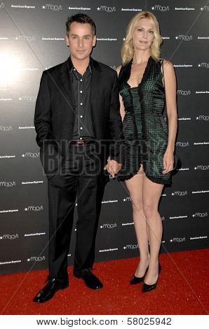 Thea Gill and husband Brian  at the Macy's Passport 2008 Gala. Barker Hanger, Santa Monica, CA. 09-25-08