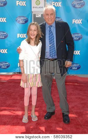 Garry Marshall and his granddaughter  at the American Idol 2008 Grand Finale. Nokia Theatre, Hollwyood, CA. 05-21-08