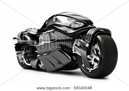 Futuristic custom motorcycle concept