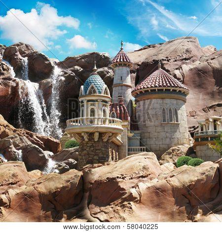 Fantasy Castle on the cliffs