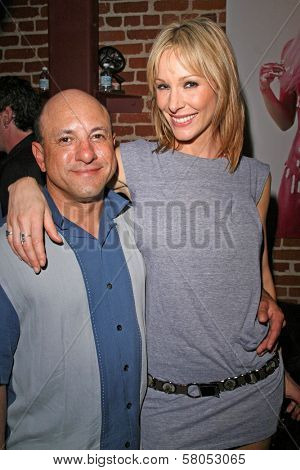 Kyle T. Heffner and Shana Sosin  at the party celebrating the opening night of the play