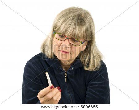 Senior With Cigarette