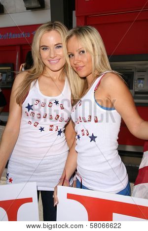 Paula LaBaredas and Liz LaBaredas  at the launch of Hollywood By The Number's