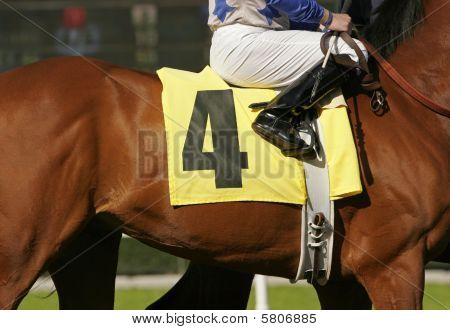 Jockey On Race Horse