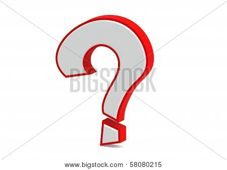 Red 3d question mark