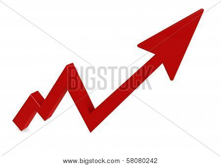Red arrow graph up