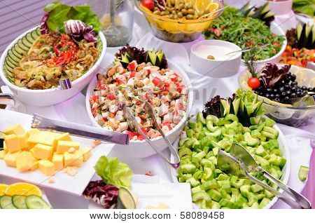 Salads on the party