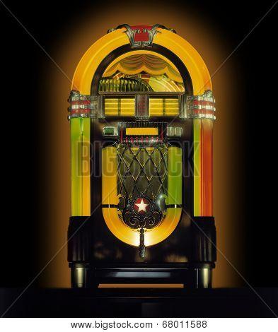 Jukebox against dark background