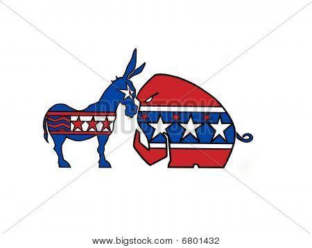 Donkey & elephant; Art done by me