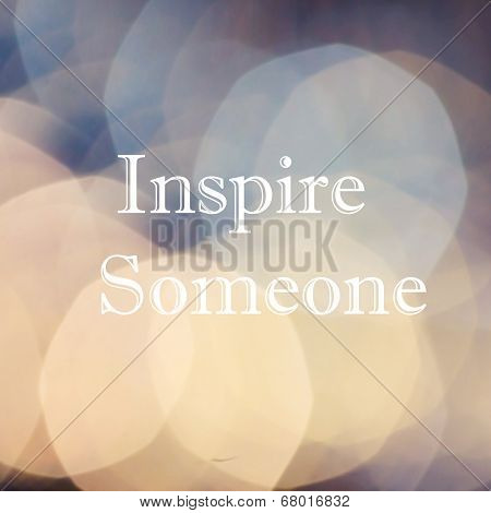 Beautiful Vintage Inspirational Motivating Quotes Over  Bokeh Light Abstract Background