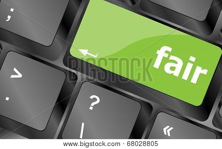 Fair Word On Computer Pc Keyboard Key