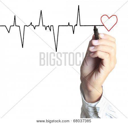 Medicine, the Hand drawing symbol