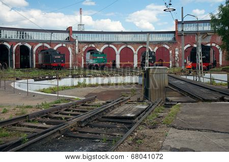 Railway Turntable And The Roundhouse