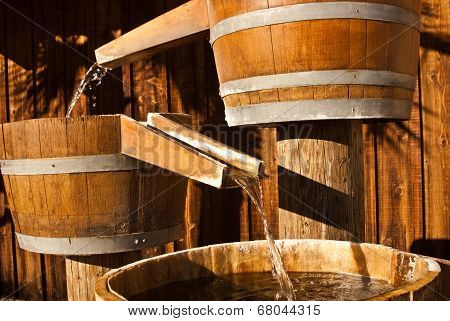 Wood Water Barrel Chutes