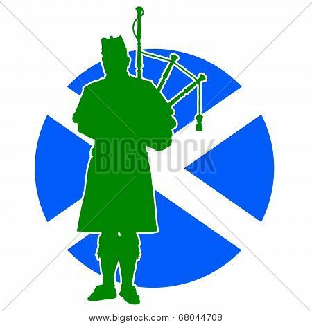 Scottish Piper Flag