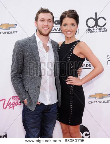 LAS VEGAS - MAY 18:  Phillip Phillips & Hannah Blackwell arrives to the Billboard Music Awards 2014  on May 18, 2014 in Las Vegas, NY
