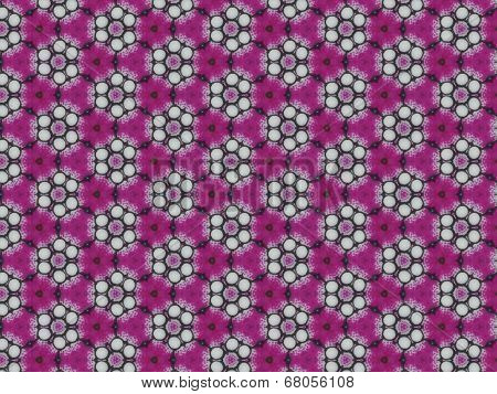 Dark pink flower pattern