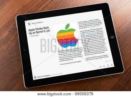 iPhone Life Magazine on an Apple iPad screen