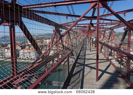 On top of the Bizkaia suspension bridge