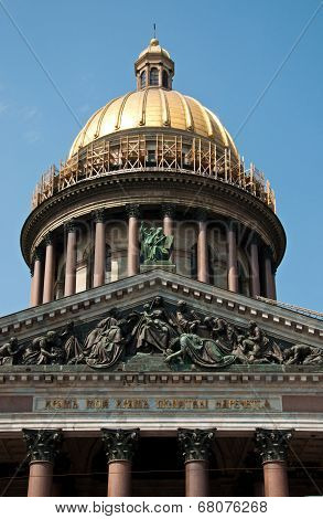 St Isaac's Cathedral in Saint Petersburg Russia poster