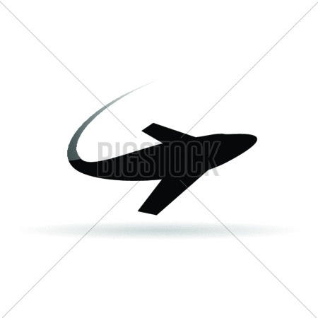 Airplane Symbol For Ticket Vector Illustration