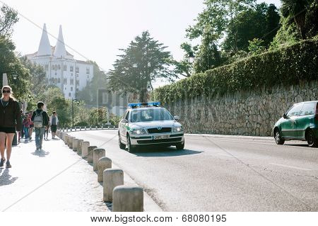Police Car On The Streets